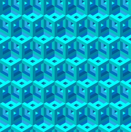 optical image: seamless pattern of red and blue blocks