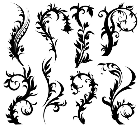 set of floral design elements Stock Vector - 9134852