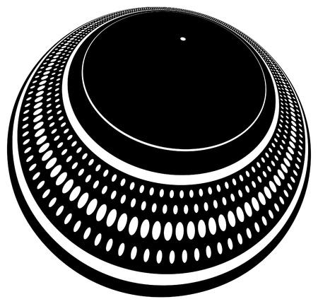 Plaque de plaque tournante du DJ fortement déformée