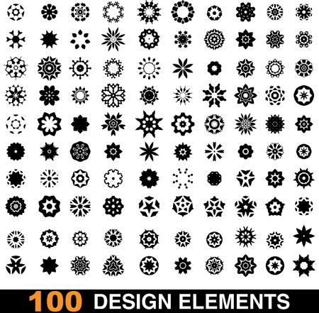 oriental pattern: set of 100 design elements Illustration