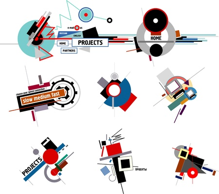 20s-30s USSR constructivism style compositions