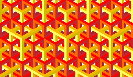 seamless pattern of red and yellow blocks
