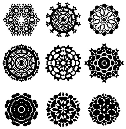 Complex geomtrical design elements Vector