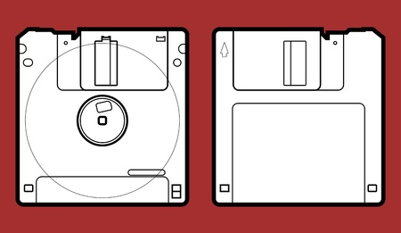 Precise copy of a 3.5 floppy disk in vector Illustration