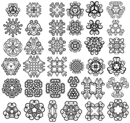 Set of fantasy style design elements
