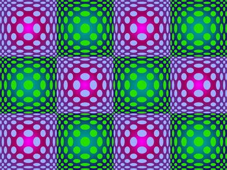 optical image: 70s style pattern of distorted spots