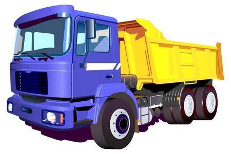 buen servicio: Imagen vectorial de un cami�n colorido