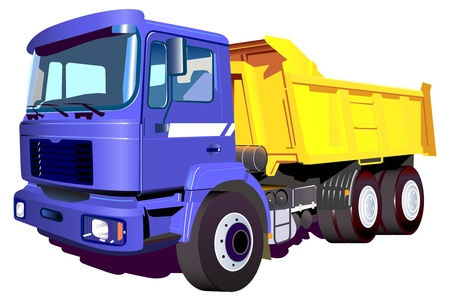 Vector image of a colorful truck Vector