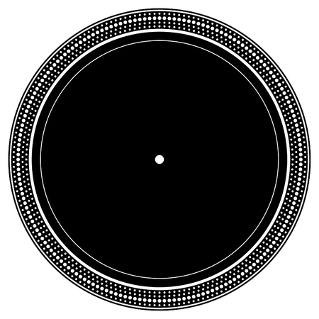 DJ turntable plate Vector