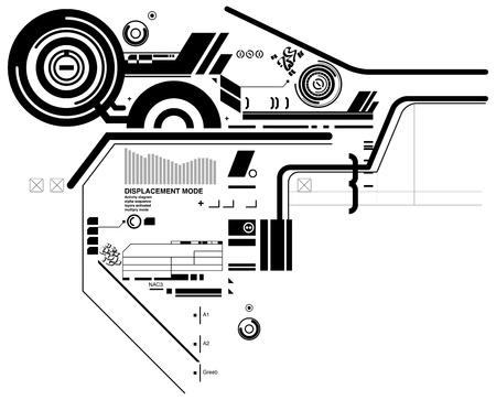 Abstract hi-tech composition