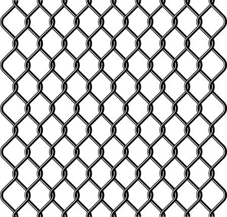 geketend: keten link hek textuur Stock Illustratie