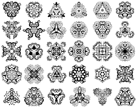 Set of fantasy style design elements Stock Vector - 9210937