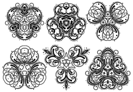 gothic architecture: Set of fantasy style design elements