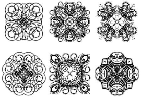 Set of fantasy style design elements Stock Vector - 9211112