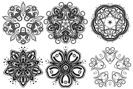 Set of fantasy style design elements Stock Vector - 9211107
