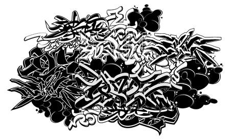 ghetto: Graffiti stile astratto composizione grafica.