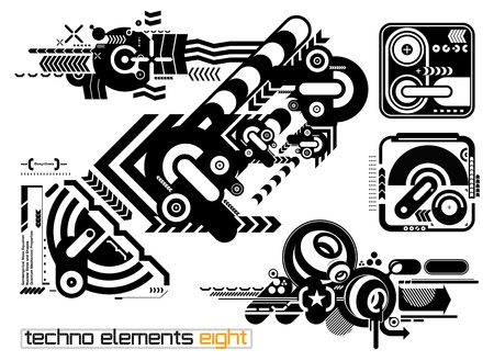 Set of techno compositions for print multimedia and web Stock Vector - 13592974