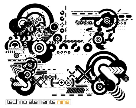 distorted: Set of techno compositions for print multimedia and web Illustration