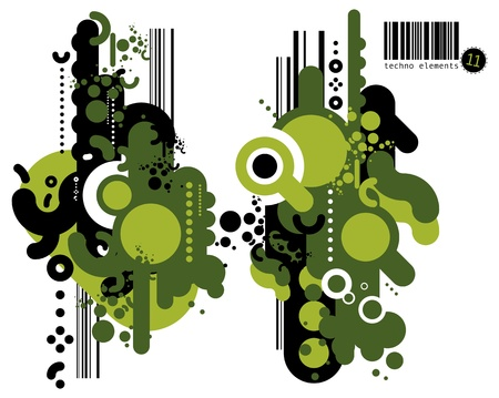 Set of techno compositions for print multimedia and web Stock Vector - 13704668