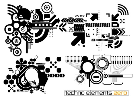 Set of techno compositions for print multimedia and web Stock Vector - 13704669