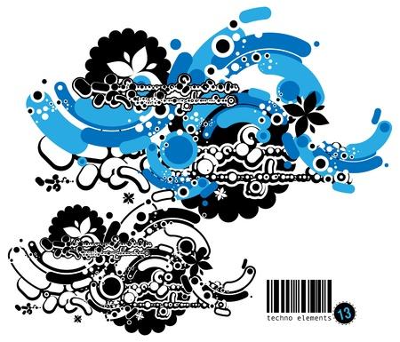 Graffiti style composition Stock Vector - 13748437