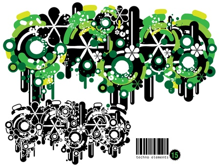 Set of techno compositions for print multimedia and web Stock Vector - 13796522