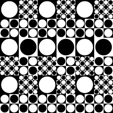 arte optico: Modelo inconsútil de los puntos 70 Foto de archivo