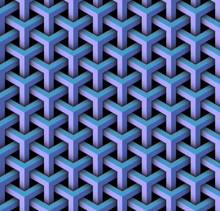 kaleidoscop: seamless pattern of blocks Stock Photo