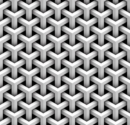 arte optico: patrón transparente de bloques grises