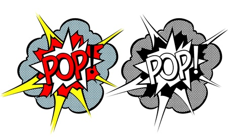 Cartoon explosion pop-art style photo