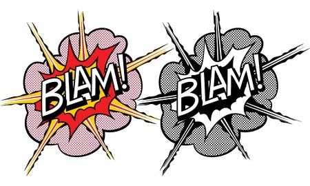 Cartoon explosion pop-art style Stock Photo - 16687208