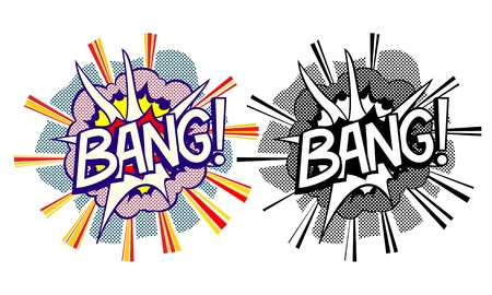 Cartoon explosion pop-art style Stock Photo - 16687209