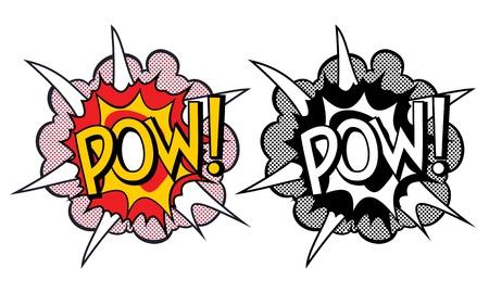 word art: Cartoon explosion pop-art style