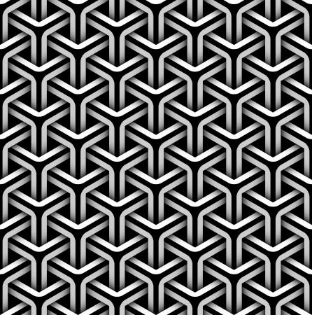 kaleidoscop: seamless pattern of gray blocks