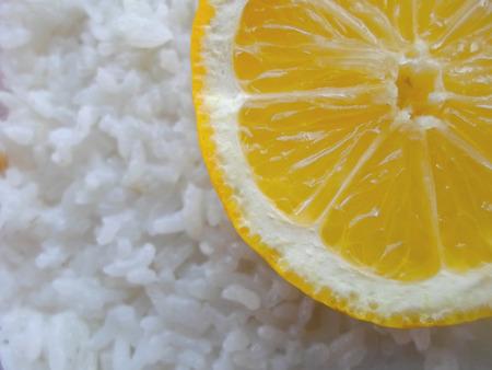 FOODIES: orange rice box close up
