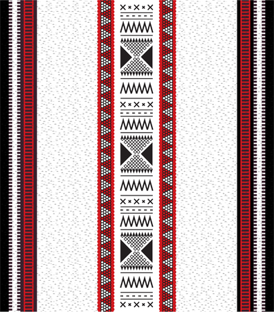 Modello tradizionale di tessitura a mano araba Sadu folk tradizionale Vettoriali