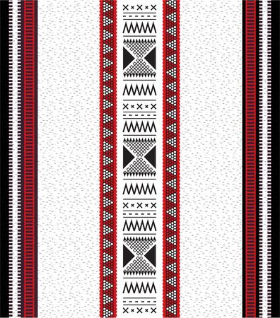 Traditional Folk Sadu Arabian Hand Weaving Pattern Illustration