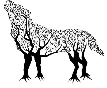 Tree Wolf Imagens - 88215719