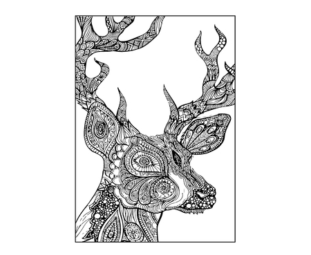 Abstract Deer. Digital Drawing  イラスト・ベクター素材
