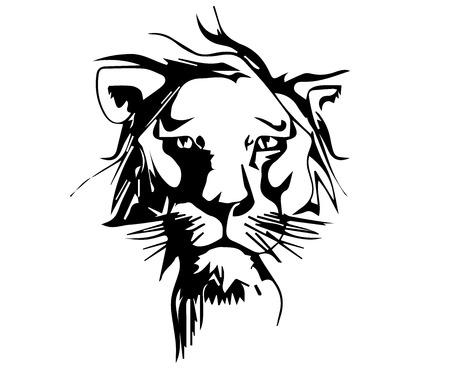 Wild lion. Ilustrace