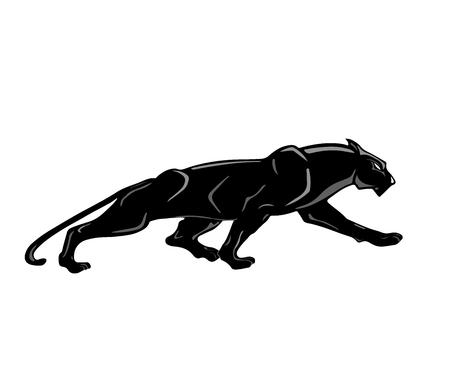 Zwarte Panter. Stock Illustratie