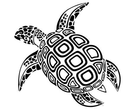 Schwarze Schildkröte.