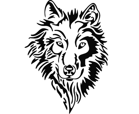 Wolf head. Ilustrace