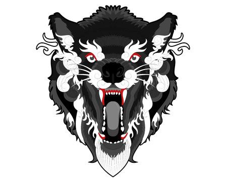 Angry ethnic wolf.