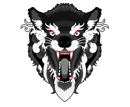 Angry ethnic wolf. Imagens - 88261853