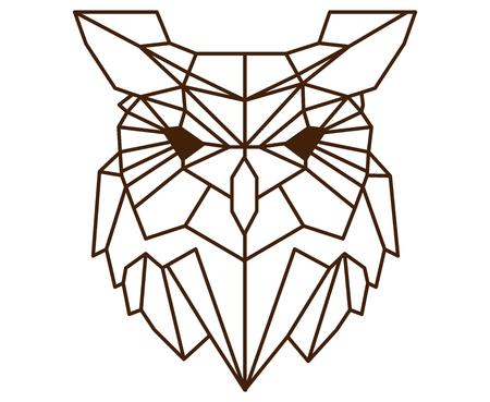 多角形のフクロウ。 写真素材 - 88261865
