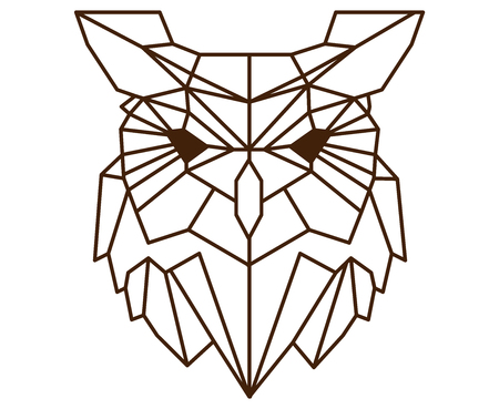 Polygonal owl. Imagens - 88261865