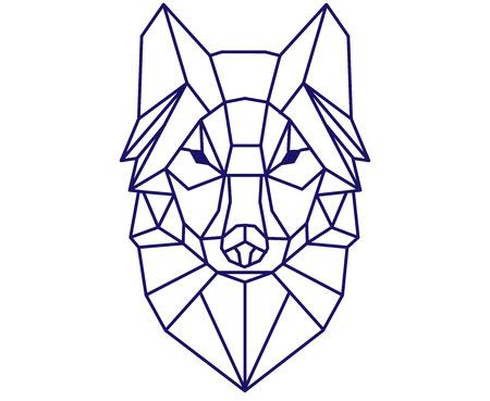 多角形のオオカミ。 写真素材 - 88261873
