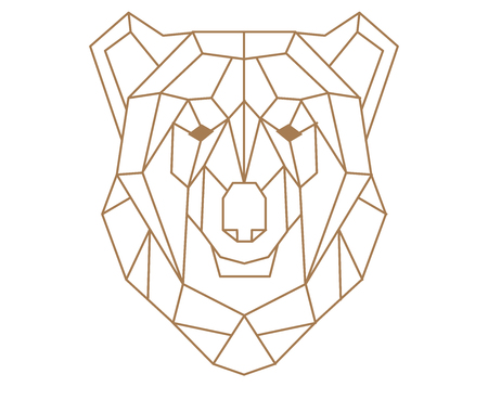 Polygonal bear. Imagens - 88261883