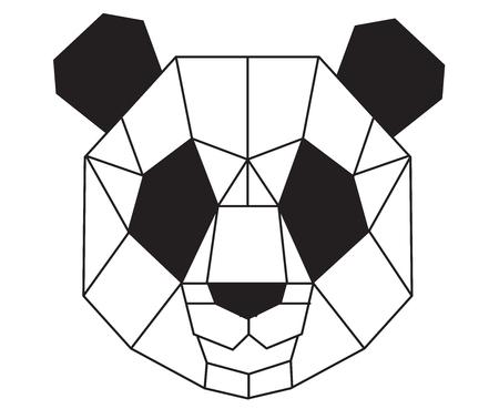 Polygonal panda. Ilustração